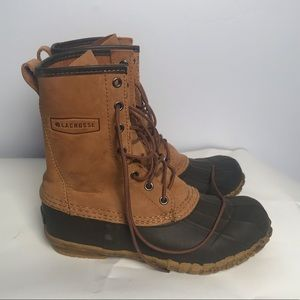 LaCrosse unlined leather duck boots